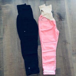 2x Maternity Pants - medium